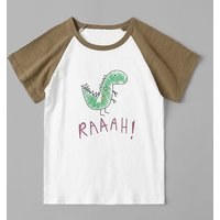 Cute Dinosaur Letters Print Short Sleeves Tee