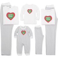 Impress White Pajamas Set with Heart On the Top