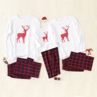Chirstmas Deer Printed Family Pajamas Set