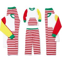 Striped Long-sleeve Asymmetry Family Matching Pajamas