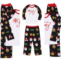 Santa Patterned Long-sleeve Family Matching Pajamas