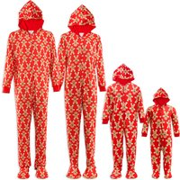 Gingerbread Printed Family Christmas Pajamas Set