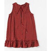 Sweet Polka Dots Shirt Collar Sleeveless Dress