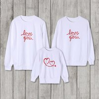 LOVE letter printed Long Sleeve T-shirt For Family matching