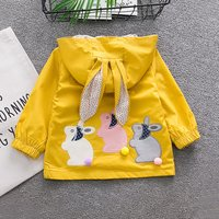 Bunny Applique Hooded Coat