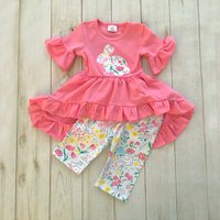 (Only 1 Left for 3-4Y)Rabbit High-low Dress and Leggings Outfit