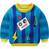 Robot Print Fleece Lining Pullover