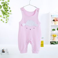 Cute Sheep Applique Sleeveless Suspender Romper for Baby