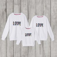 Vintage Floral LOVE Print Family Sweater