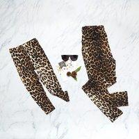 Stylish Leopard Print Matching  Leggings