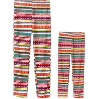 Colorful Striped Print Matching Leggings