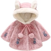 (Only 1 Left for 12-18M) Fleece Bunny Cape Coat