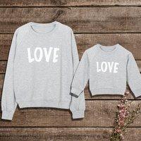 LOVE Print Matching Sweatshirt