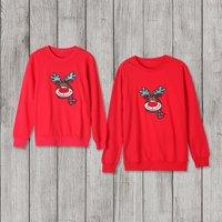 Christmas Deer Pattern Family Sweatshirt