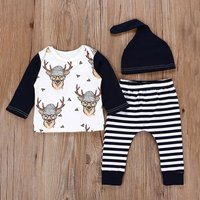 3-piece Reindeer Striped Set