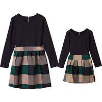 Multi-colour Long-sleeve Matching Dress