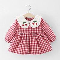 Plush Lining Checkered Dress