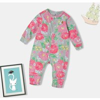(Only 1 Left for 12-18M)Floral Footless Jumpsuit