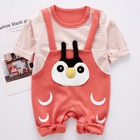 (Only 1 Left for 12-18M)Faux-two Animal Applique Jumpsuit