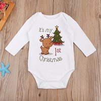 Christmas Baby Reindeer Bodysuit