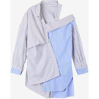Asymmetrical Design Maternity Stripe Blouse
