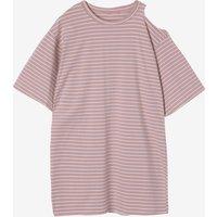 Cross Stripe Maternity T-shirt