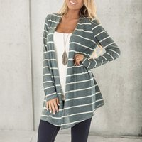 Trendy Casual Striped Loose Cardigan For women