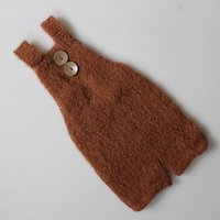 Buttons Front Knit Overalls Photography Prop