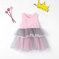 Ruffle Star Embroidered Tulle Dress