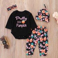 4 Pcs Pretty Little Pumpkin Outfit