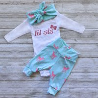 3-piece Little Sis Deer Printed Set