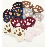 Lovely Bear Paw Matching Gloves