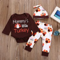 Mommy's Little Turkey Thanksgiving Outfit