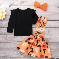 3-piece Ruffle Suspender Halloween Outfit