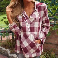 Classic Plaid Outwear with Hat