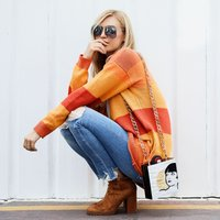 Oversize Sweater with Pleasant Colour for Women