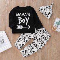 3-piece Mama's Boy Panda Pattern Outfit