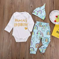 Mama's Rainbow Bodysuit Set