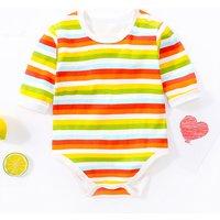 Color Blocked Striped Bodysuit