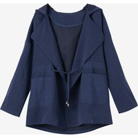 Pocket Maternity Hooded Trench Coat