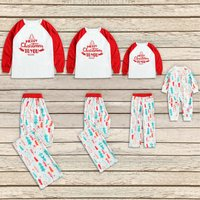 Letters Tree Print Long-sleeve Top and Pants Lounge Set for Family Matching