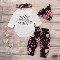 Sassy Little Sister Floral Outfit