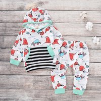 (Only 1 Left for 6-9M) Sloth Printed Hooded Set