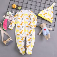 2-piece Allover Dinosaur Jumpsuit with Hat