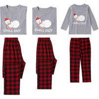Comfortable Family Matching Pajamas with Christmas Snowman Printed
