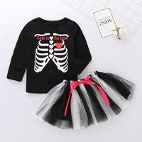 2 Pcs Cute to the Bone Tutu Skirt Halloween Set