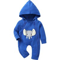 Zip-up Elephant Hooded Jumpsuit