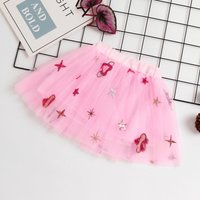Heart Sequins Tulle Skirt