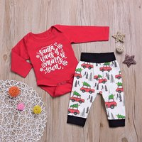 2 Pcs Santa's Coming to Town Outfit