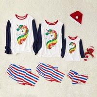 Colorful Unicorn Family Matching Pajamas
